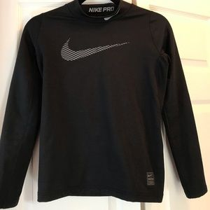 Boys Nike black compression shirt